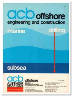 ACB Offshore 1983 Vintage Catalog Drilling Engineering Construction
