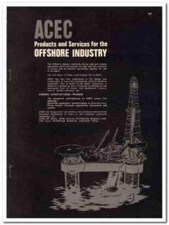 Ateliers Constructions Electriques 1985 Vintage Catalog Oil Offshore