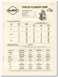 Cooper Industries 1983 Vintage Catalog Ajax Pump Petroleum Equipment