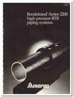 Ameron BV 1983 Vintage Catalog Oil Bondstrand High Pressure RTR Piping
