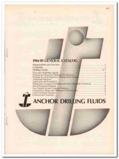 Anchor Drilling Fluids 1983 Vintage Catalog Oil Petroleum Emulsifiers