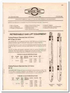 AFECO Inc 1983 Vintage Catalog Oil Gas Lift Valve Production Equipment