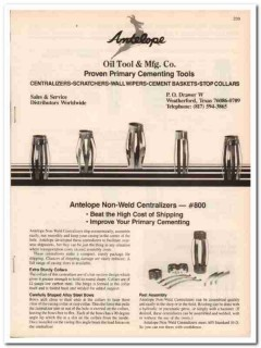 Antelope Oil Tool Mfg Company 1983 Vintage Catalog Cementing Equipment