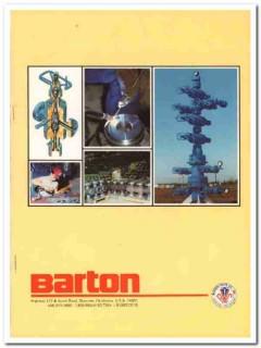 Barton Valve Company 1983 Vintage Catalog Oil Field Wellhead Equipment