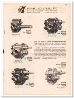 Bowie Industries Inc 1983 Vintage Catalog Oil Pumps Extreme Conditions