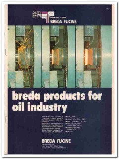 Breda Fucine 1983 Vintage Catalog Oil Finanziaria Industry Equipment