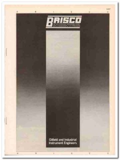 Brisco Engineering Services Ltd 1983 Vintage Catalog Oilfield Controls