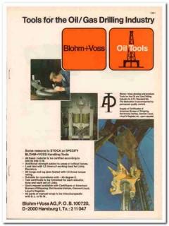 Blohm Voss AG 1983 Vintage Catalog Oil Gas Drilling Industry Tools
