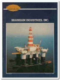 Branham Industries Inc 1983 Vintage Catalog Oilfield Drilling Derricks