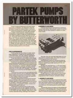 Butterworth Inc 1983 Vintage Catalog Oil Field Partek Pumps Equipment