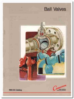 Cameron Iron Works Inc 1983 Vintage Catalog Oil Ball Valves Pipeline