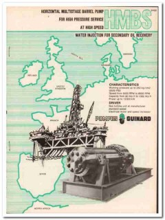 Pompes Guinard 1983 Vintage Catalog Oil Secondary Recovery Pump HMBS