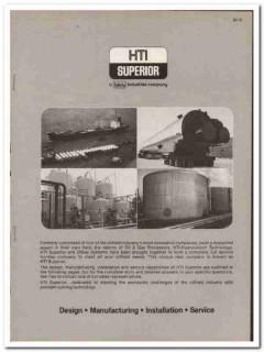 HTI-Superior Inc 1983 Vintage Catalog Oil Design Oilfield Equipment