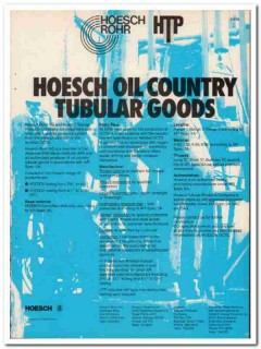Hoesch Rohr AG 1983 Vintage Catalog Oil Country Tubular Products Pipe
