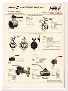 Condec Company 1983 Vintage Catalog Oil Hale Oilfield Products Valves