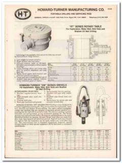Howard-Turner Mfg Company 1983 Vintage Catalog Portable Drilling Rigs