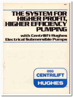 Hughes Tool Company 1983 Vintage Catalog Oil Centrilift-Hughes Pump