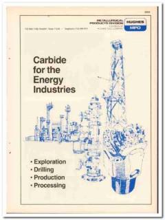 Hughes Tool Company 1983 Vintage Catalog Oil Hughes-MPD Metallurgical