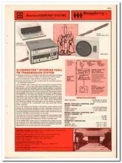 Humphrey Inc 1983 Vintage Catalog Oil Directional Surveyor System Gas