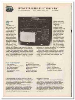 Hunnicutt Digital Electronics Inc 1983 Oil Vintage Catalog Monitoring
