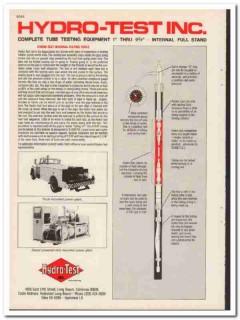Hydro-Test Inc 1983 Vintage Catalog Oil Field Tube Testing Equipment