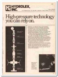 Hydrolex Inc 1983 Vintage Catalog Oil Wireline Lubricator Equipment