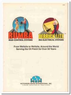 Huchison Hayes International 1983 Vintage Catalog Rumba Derrick-Lite