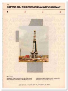 AGIP USA Inc 1993 Vintage Catalog Oil Drilling Rigs Production Pipe