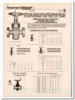 American Oilfield Products Inc 1993 Vintage Catalog Oil Gate Valve