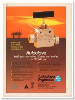 Autoclave Engineers Group 1994 Vintage Catalog Valves Fittings Tubing