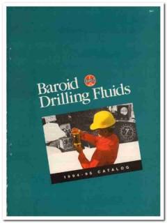Baroid Drilling Fluids Inc 1993 Vintage Catalog Oil Petroleum Oilfield