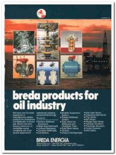 Breda Engergia SpA 1993 Vintage Catalog Oil Wellhead Oilfield Products