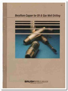 Brush Wellman Inc 1993 Vintage Catalog Oil Drilling Beryllium Copper