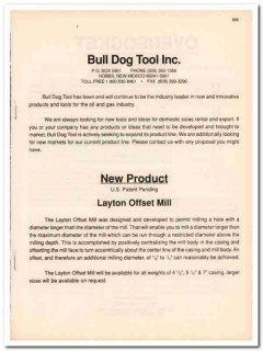 Bull Dog Tool Inc 1993 Vintage Catalog Oil Layton Offset Mill Oilfield