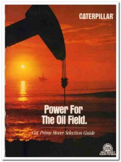 Caterpillar Inc 1993 Vintage Catalog Oil Field Drilling Pumping Power