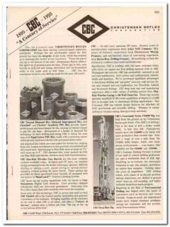 Christensen Boyles Corp 1993 Vintage Catalog Oil Drilling Equipment