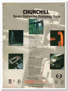 Lufkin Industries Inc 1993 Vintage Catalog Oil Pumping Units Churchill