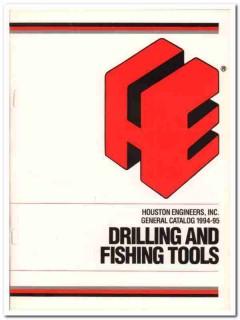 Houston Engineers Inc 1993 Vintage Catalog Oil Drilling Fishing Tools