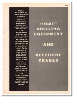Hydralift 1993 Vintage Catalog Oil Drilling Equipment Offshore Cranes