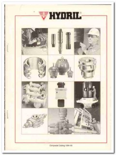 Hydril Company 1993 Vintage Catalog Oil Drilling Equip Rubber Tubular