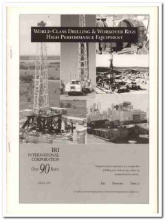 IRI International Corp 1993 Vintage Catalog Oil Drilling Workover Rigs