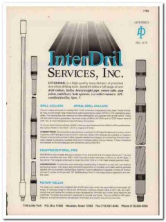 InterDril Services Inc 1993 Vintage Catalog Oil Downhole Drilling Tool