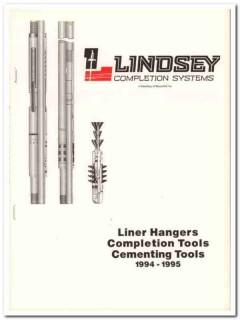 Lindsey Completion Systems Inc 1993 Vintage Catalog Oil Liner Hangers