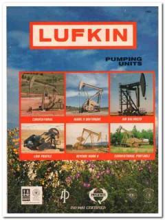 Lufkin Industries Inc 1993 Vintage Catalog Oil Pumping Units Petroleum