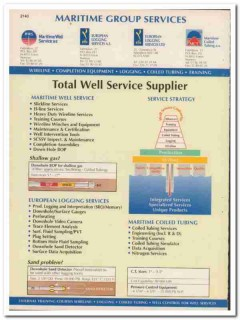 Maritime Group Services 1993 Vintage Catalog Oil Total Well Supplier