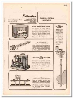Petrotherm Inc 1993 Vintage Catalog Oil Oilfield Heating Equipment