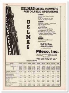 Pileco Inc 1993 Vintage Catalog Oil Field Delmag Diesel Hammers Pile