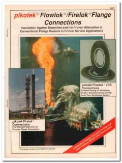 Pikotek Inc 1993 Vintage Catalog Oil Flowlok Firelok Flange Connection