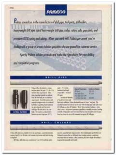 Prideco Inc 1993 Vintage Catalog Oil Field Drill Pipe Collars Kellys