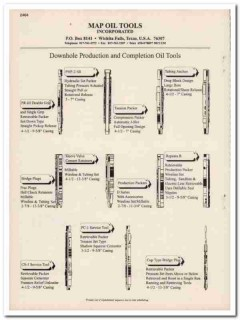 Map Oil Tools Inc 1993 Vintage Catalog Downhole Production Completion